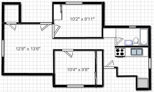 26 N Franklin #2 floor plan
